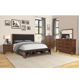 Robert RB400 Queen Bed - Dresser - Mirror