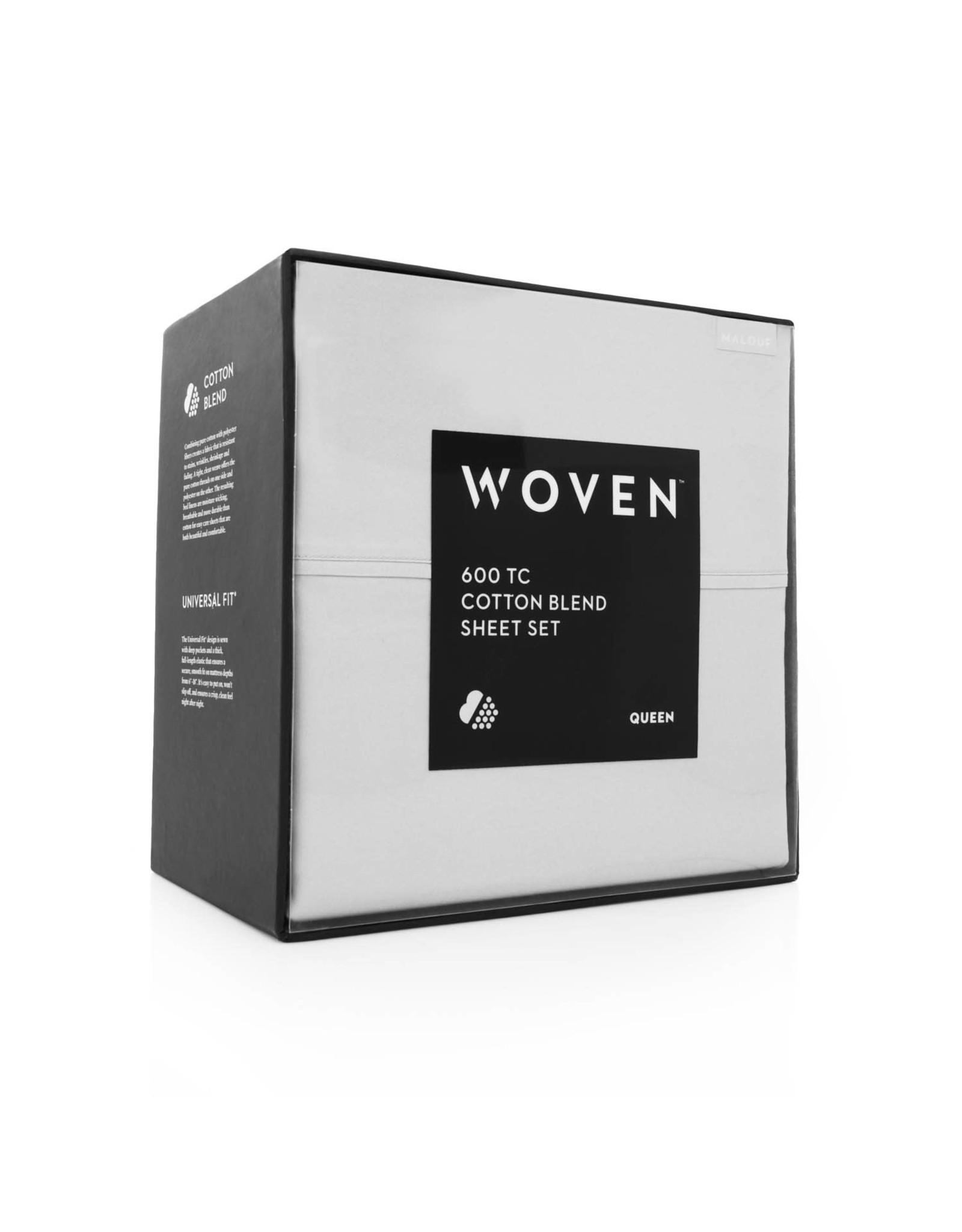 Malouf MA06QQWHCS 600 Thread Count Queen Sheet Set