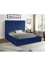 Jake JA8021 Blue Queen Bed W/Storage Footboard