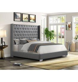 Alanis AL8027 Queen Bed Gray
