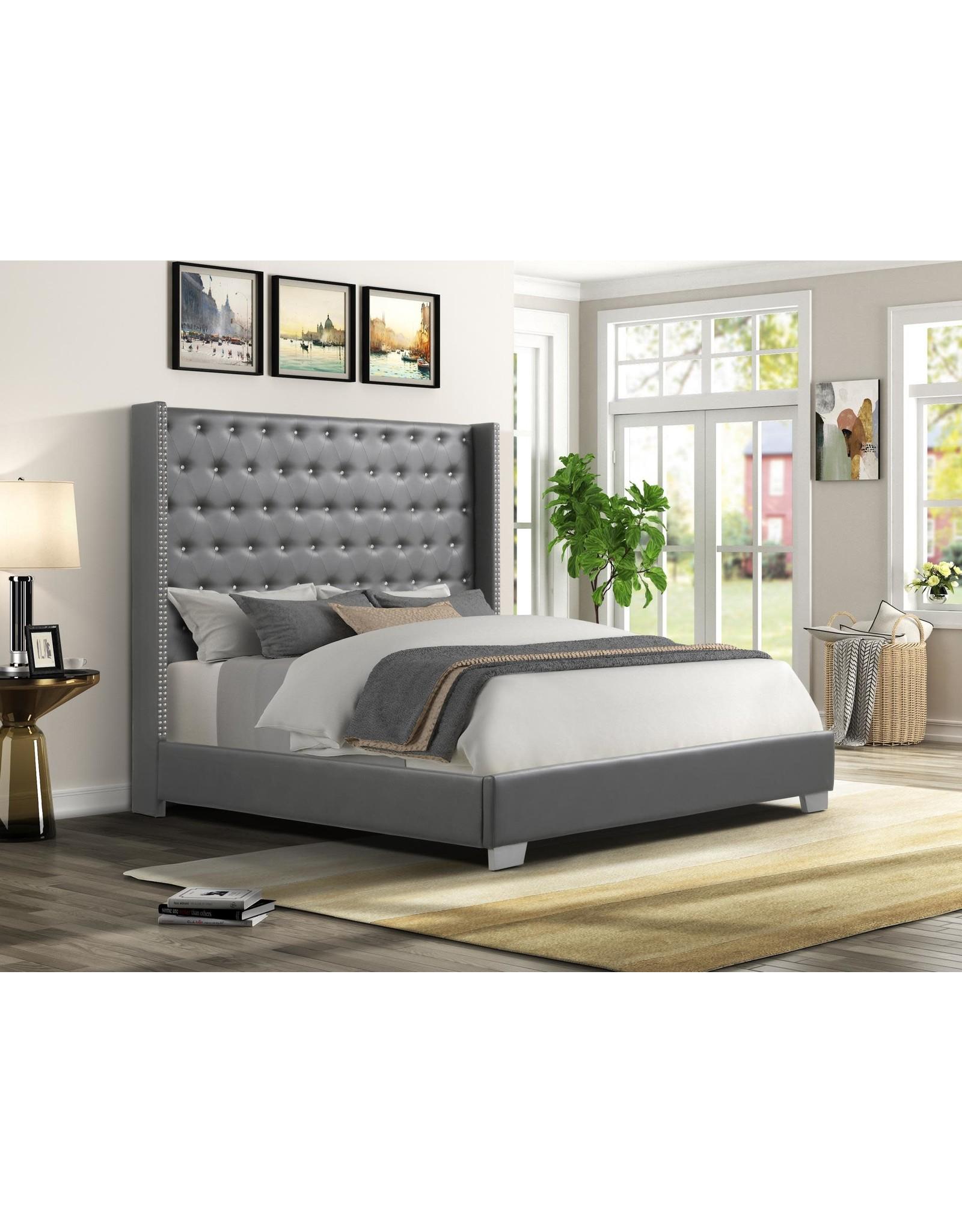 AL8027 King Bed Gray