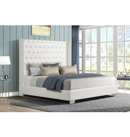 Alanis AL8027 Queen Bed White