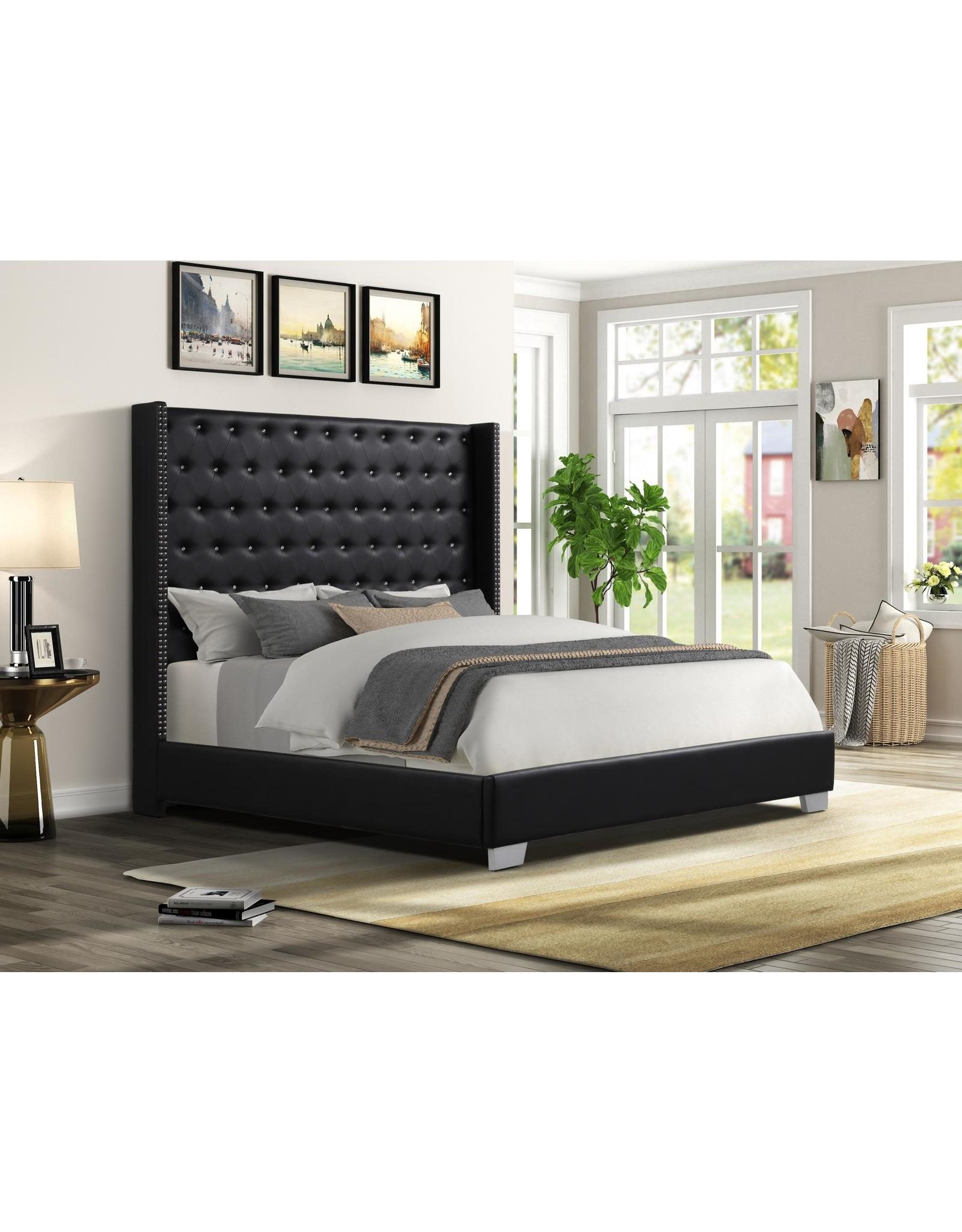 Alanis AL8027 Queen Bed Black