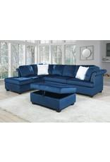 LE3031 Blue Sectional w/ Ottoman