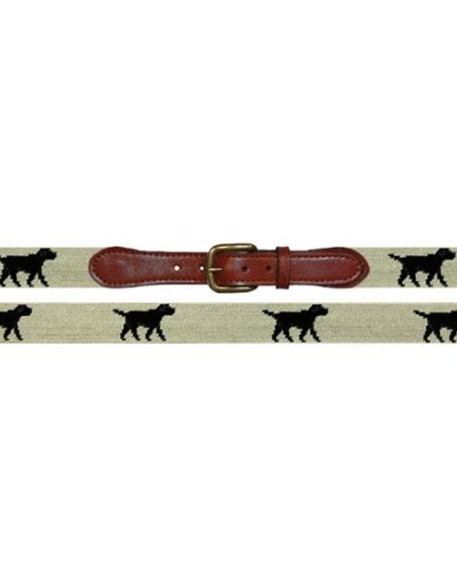 Smathers & Branson Black Lab Needlepoint Belt