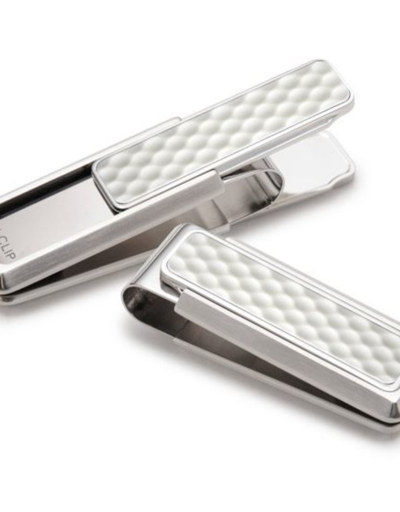 M-Clip Brushed Stainless White Golf Ball Money Clip