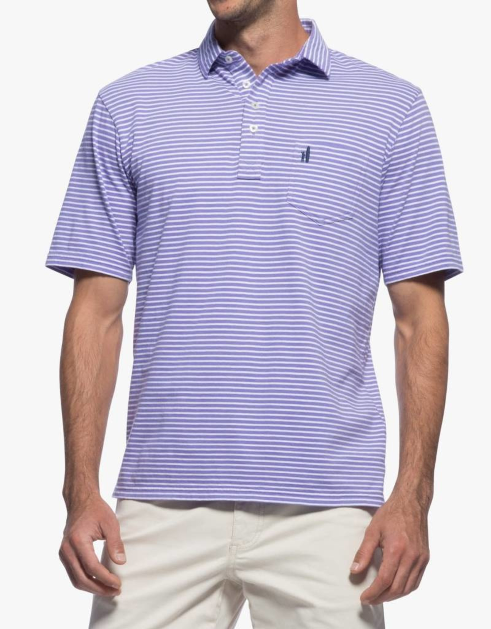 Johnnie-O Macon Striped 4-Button Polo