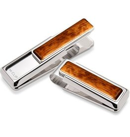 M-Clip Rhodium Bubinga Wood Money Clip