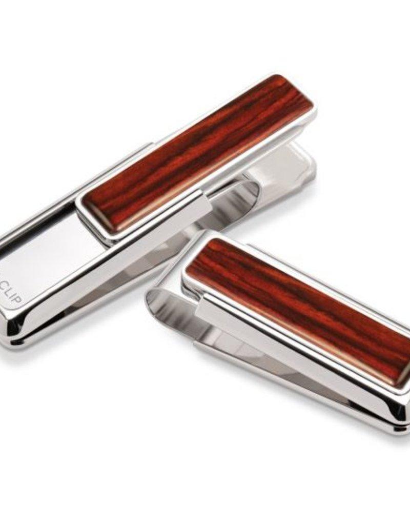 M-Clip Rhodium Cocobolo Wood Money Clip