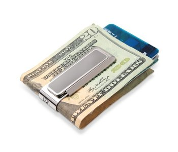 Stainless Brushed With Polished Border Money Clip