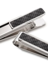 M-Clip Stainless With Black Carbon Fiber Money Clip
