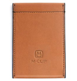M-Clip Tan Leather RFID Case