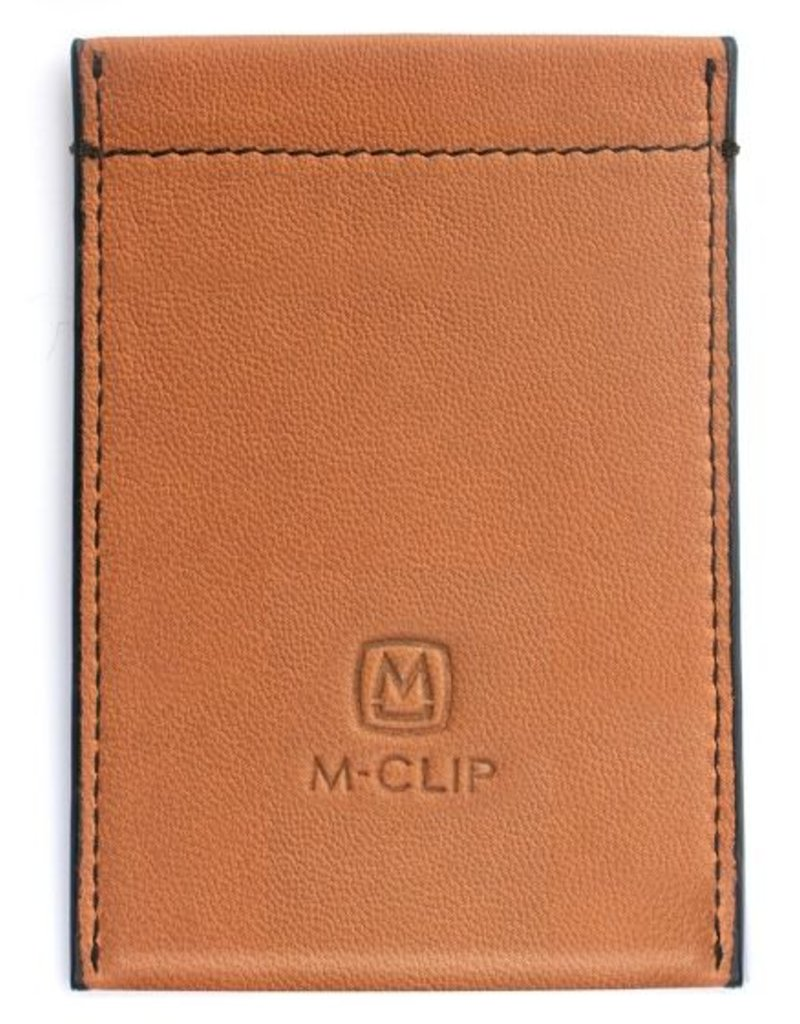 M-Clip Tan Leather RFID Case