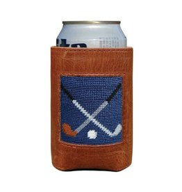 Smathers & Branson Crossed Clubs Needlepoint Can Cooler