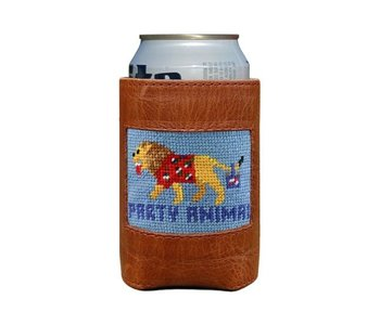 Party Animal Needlepoint Can Cooler