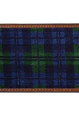 Smathers & Branson Black Watch Needlepoint Card Wallet
