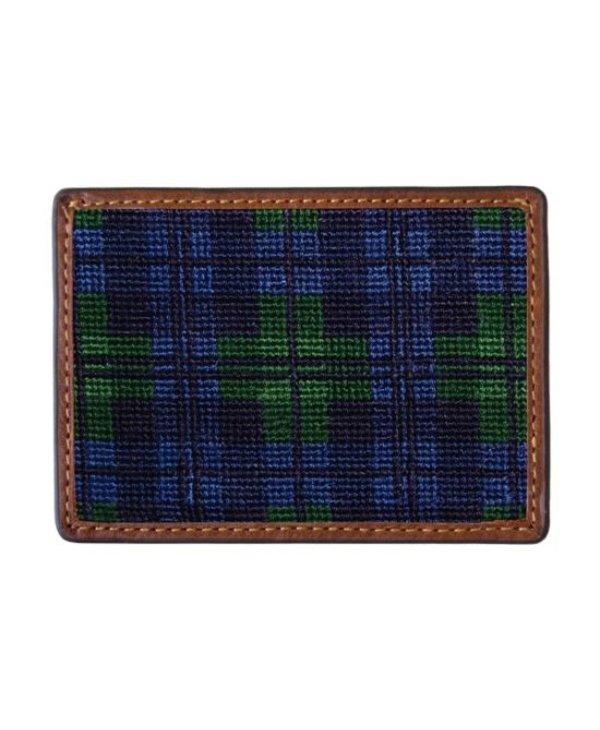 Black Watch Needlepoint Card Wallet