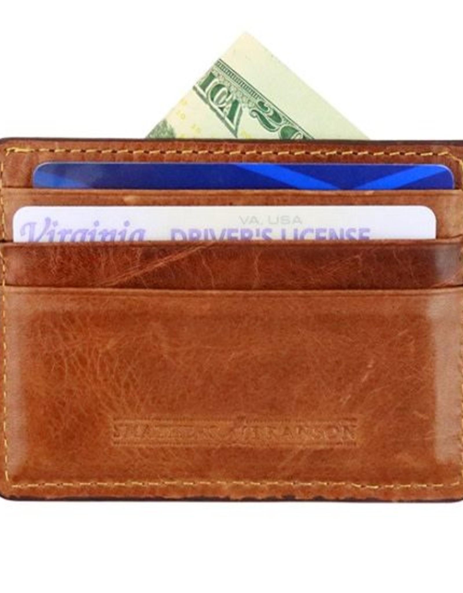 Smathers & Branson Black Watch Needlepoint Card Wallet