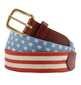 Smathers & Branson Stars and Stripes Needlepoint Belt