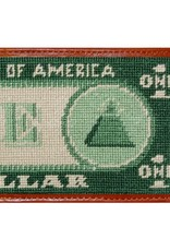 Smathers & Branson Dollar Bill Needlepoint Bi-Fold Wallet