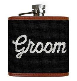 Smathers & Branson Groom Needlepoint Flask