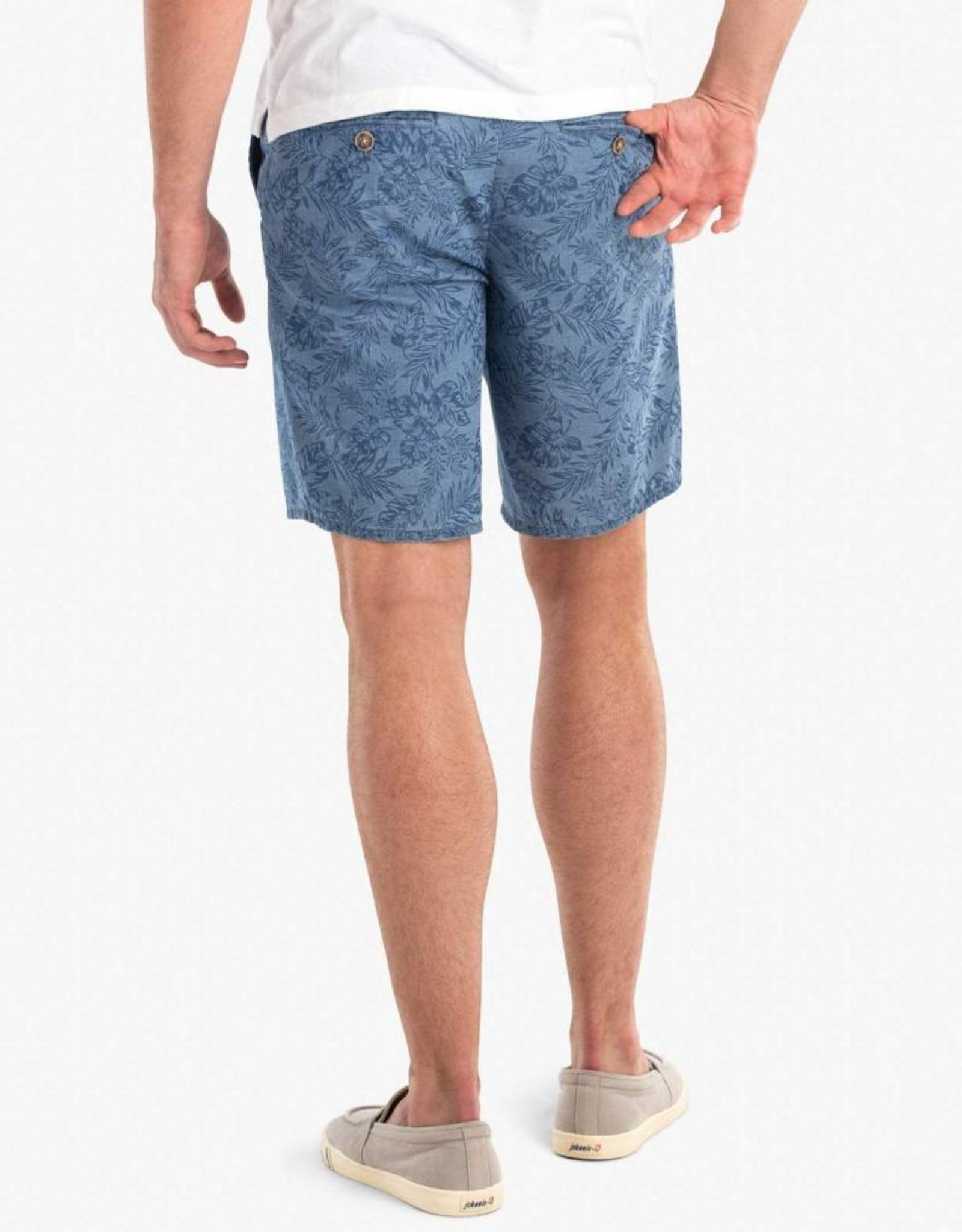 Johnnie-O Runway Printed Chambray Shorts