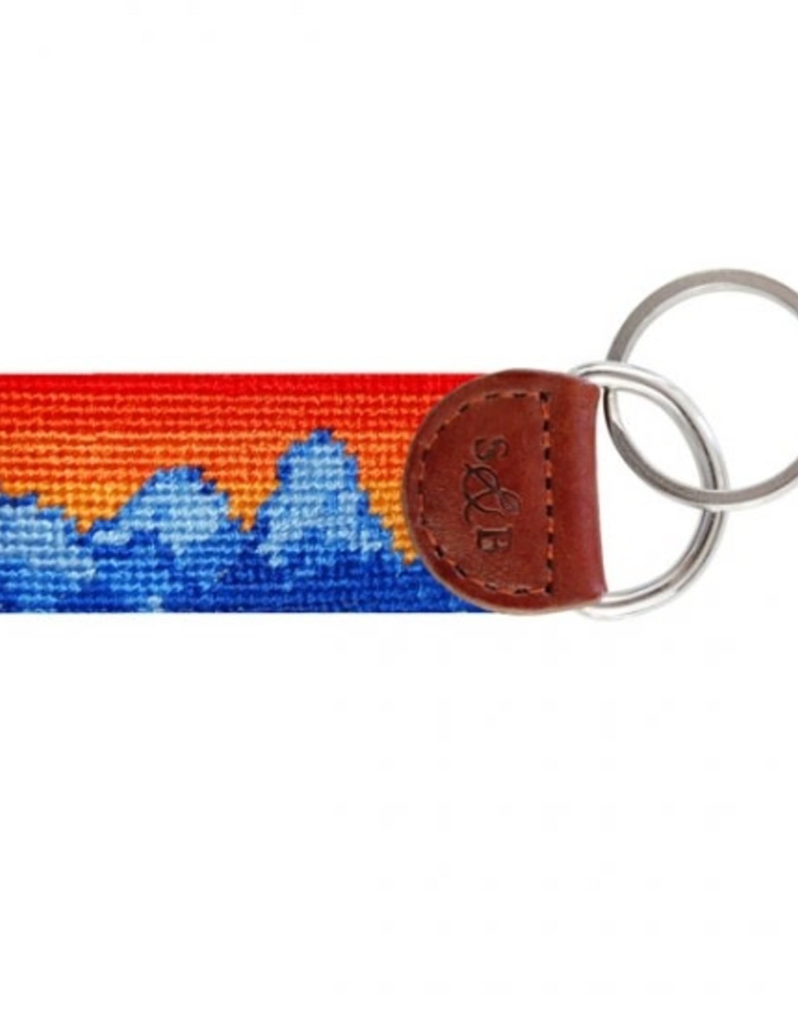 Smathers & Branson Mountain Sunset Needlepoint Key Fob