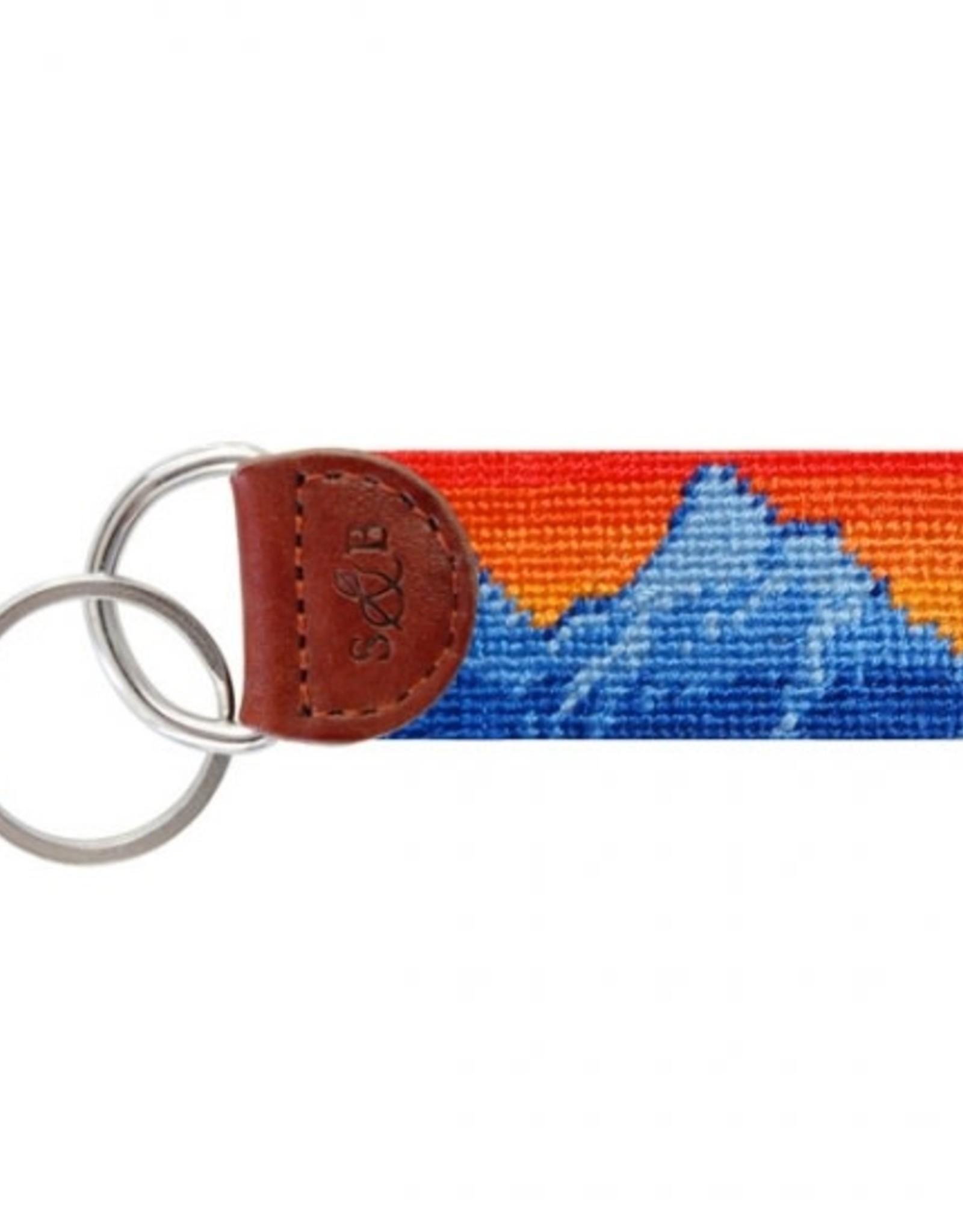 Smathers & Branson Mountain Sunset Needlepoint Key Fob