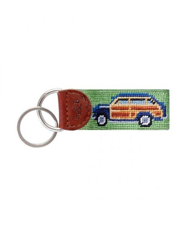 Woody Needlepoint Key Fob