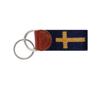 Cross Needlepoint Key Fob