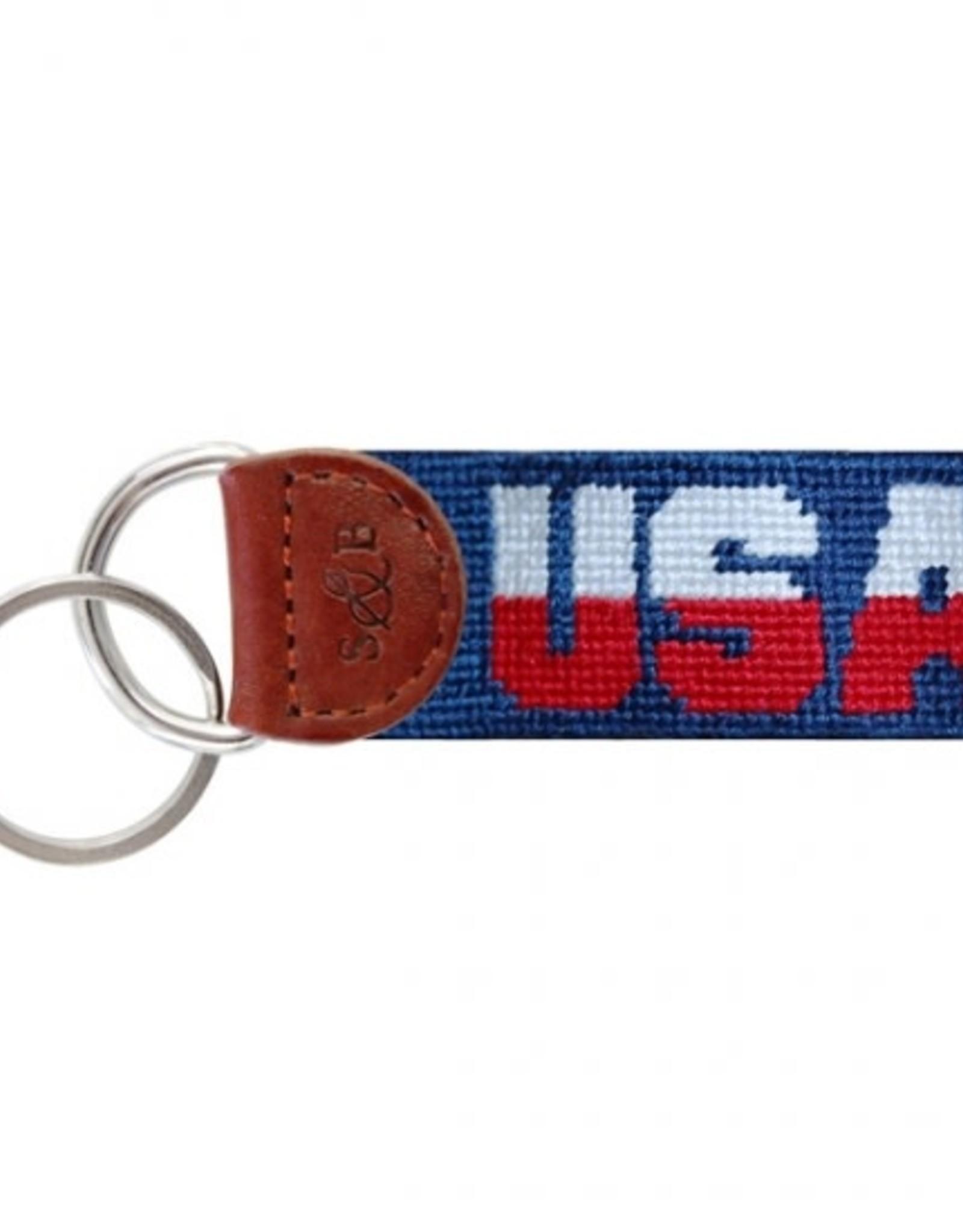 Smathers & Branson USA Needlepoint Key Fob