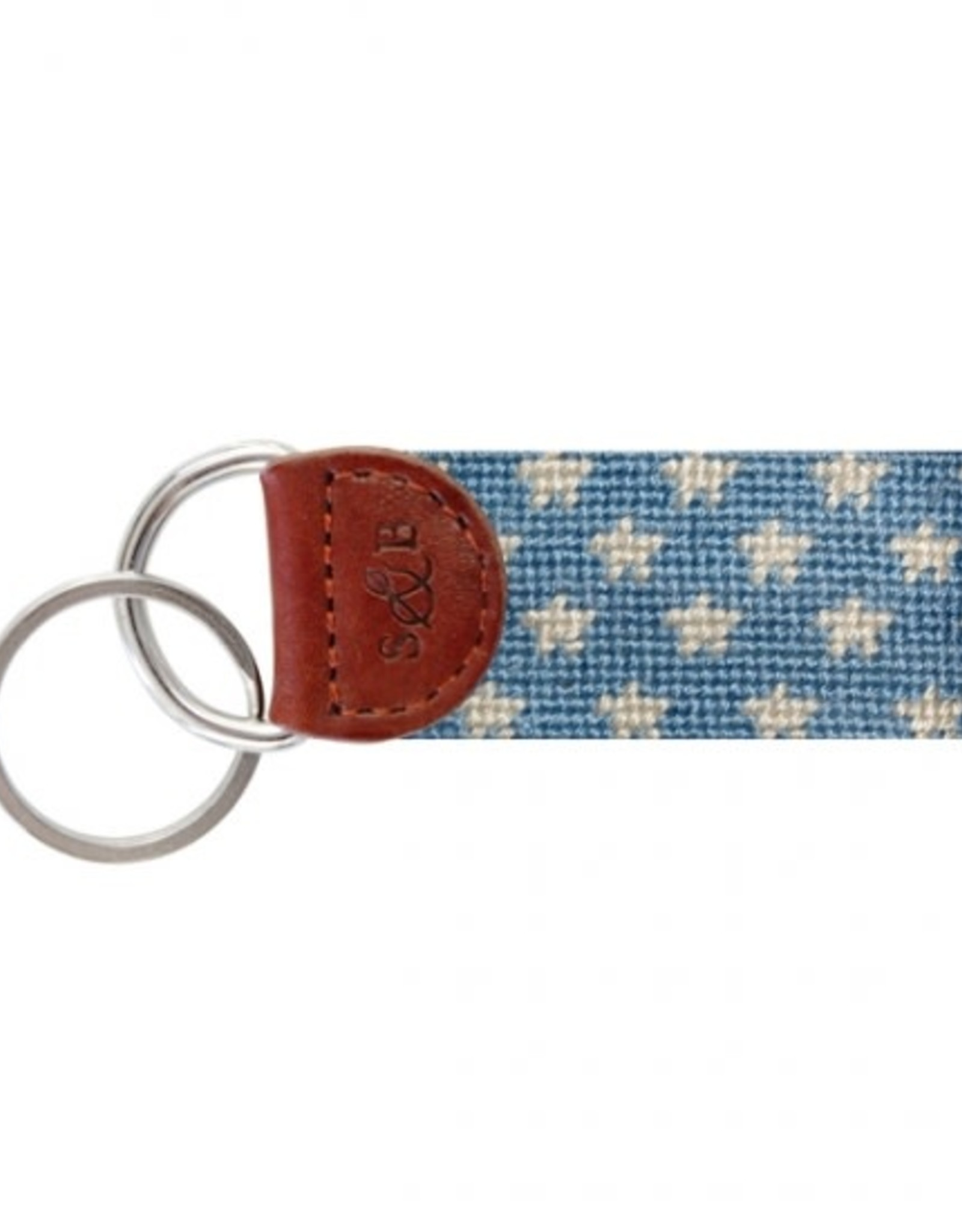 Smathers & Branson Stars and Stripes Needlepoint Key Fob