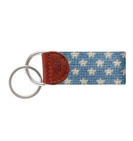 Smathers & Branson Stars and Stripes Needlepoint Key Fob