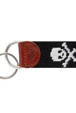 Smathers & Branson Jolly Roger Needlepoint Key Fob