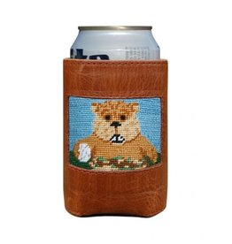 Smathers & Branson Gopher Golf Needlepoint Can Cooler