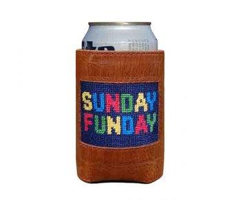 Sunday Funday Needlepoint Can Cooler