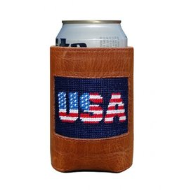 Smathers & Branson Patriotic USA Needlepoint Can Cooler