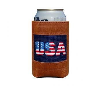 Patriotic USA Needlepoint Can Cooler