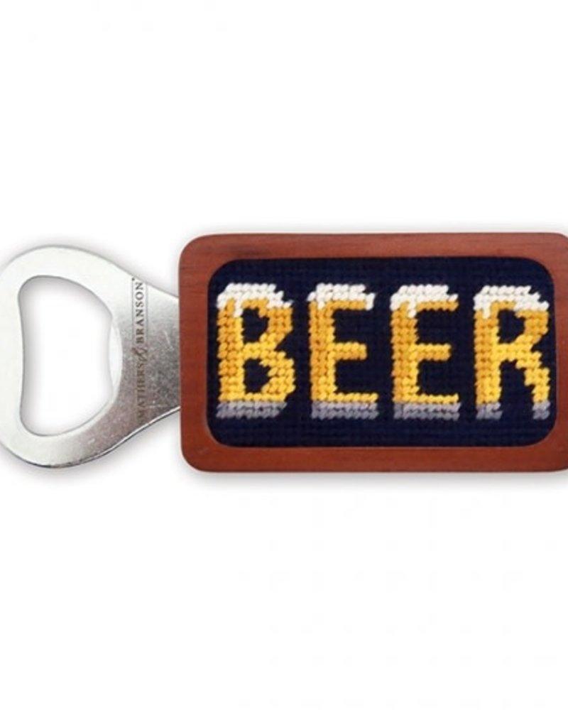Smathers & Branson Beer Needlepoint Bottle Opener