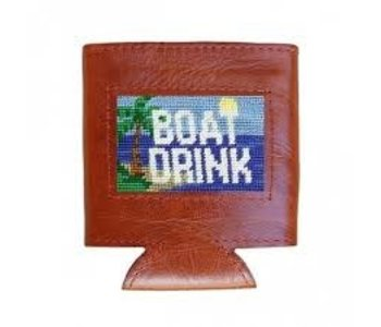 Boat Drink Needlepoint Can Cooler
