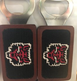 Smathers & Branson Arkansas State Needlepoint Bottle Opener
