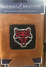 Smathers & Branson Arkansas State Needlepoint Can Cooler