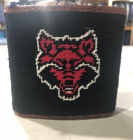 Smathers & Branson Arkansas State Needlepoint Flask