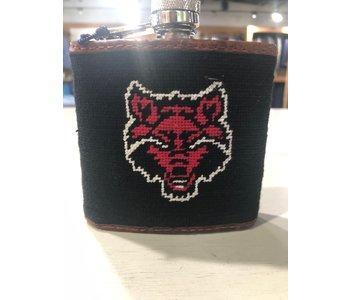 Arkansas State Needlepoint Flask