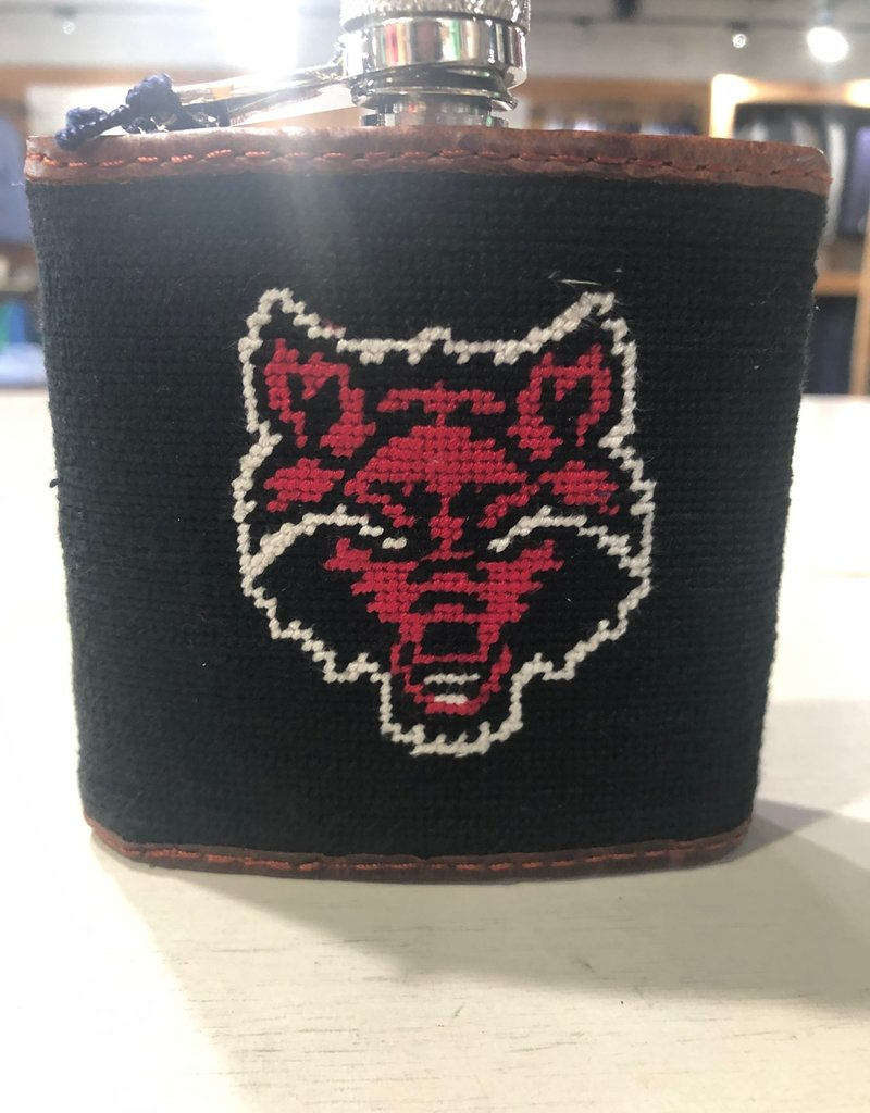 Smathers & Branson Arkansas State Needlepoint Flask