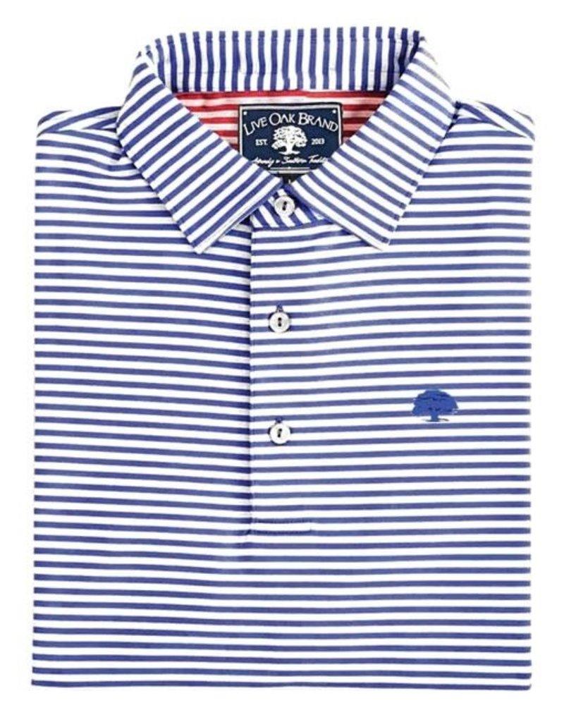 Thick Stripe Perf Polo