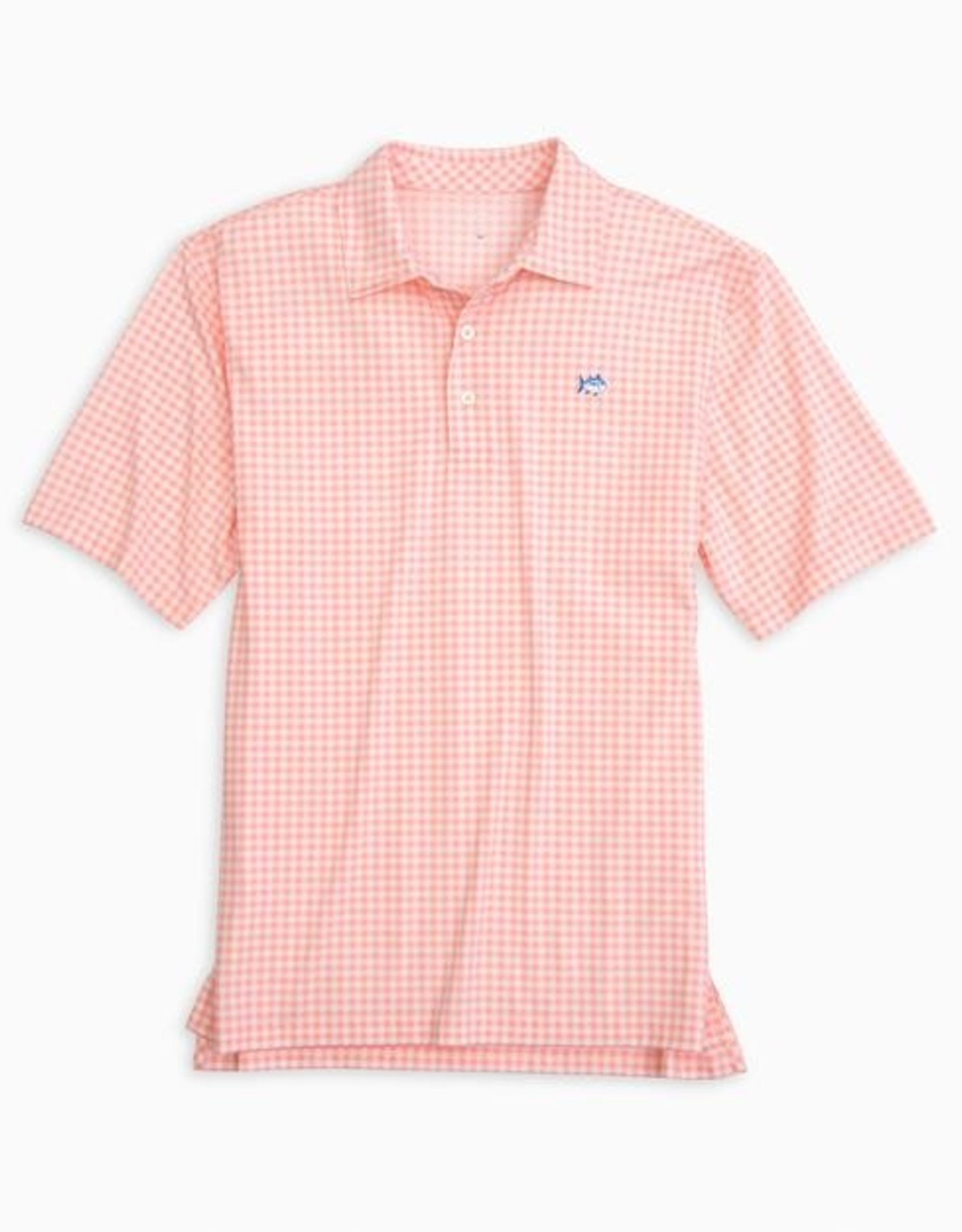 Southern Tide Gingham Driver Perf Polo