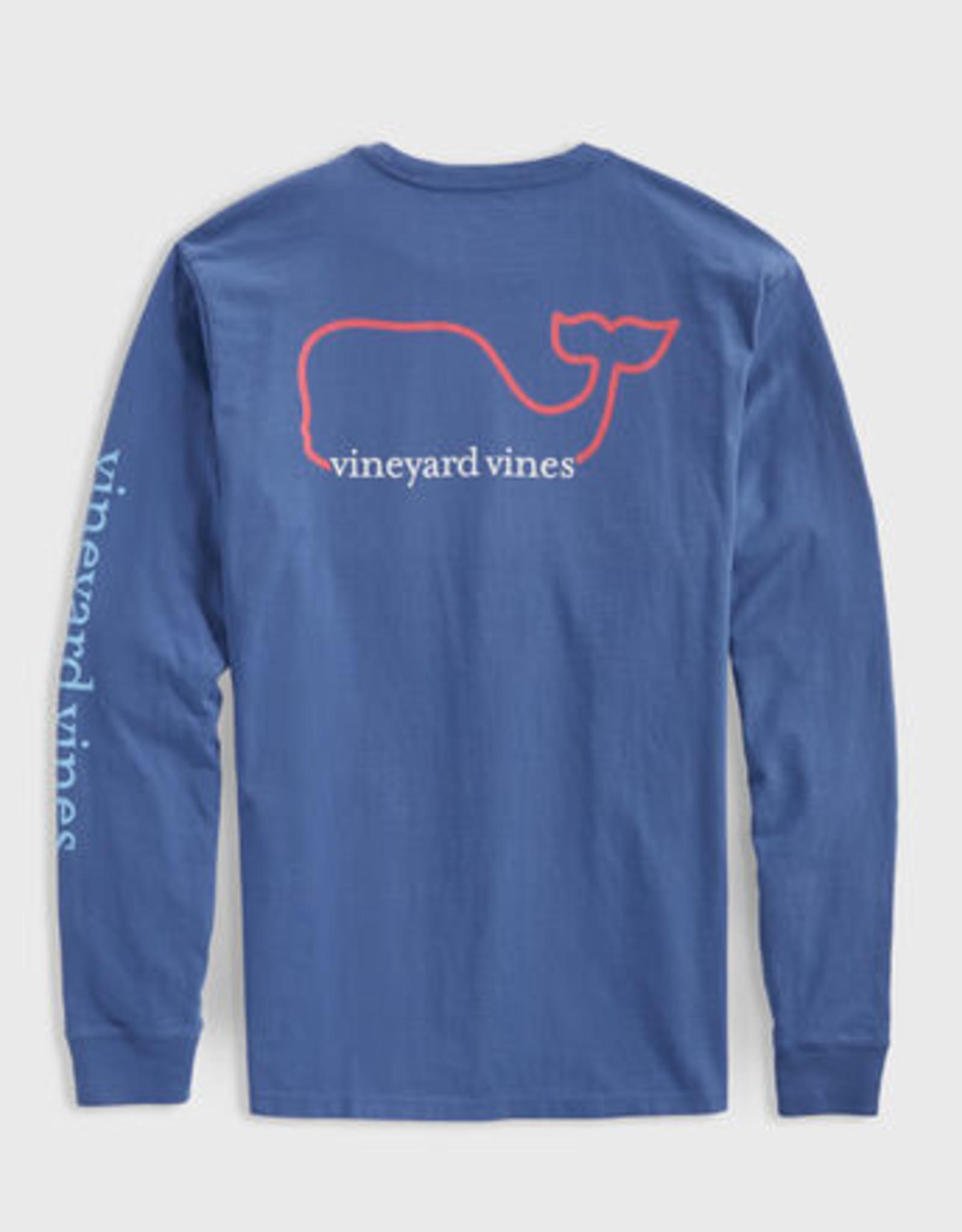 Vineyard Vines tricolor whale pkt t
