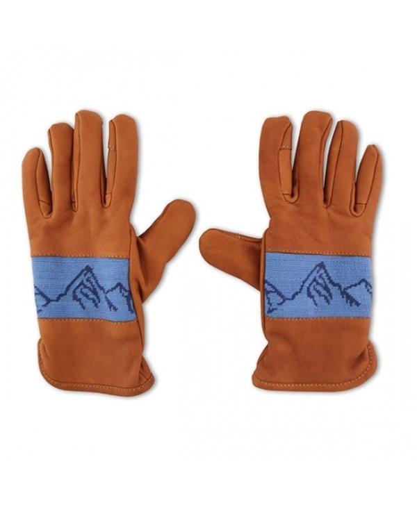 Mountain Peaks Leather Gloves