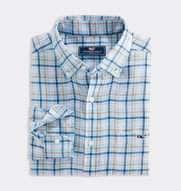 Vineyard Vines CLASSIC FIT CHECK LINEN SHIRT